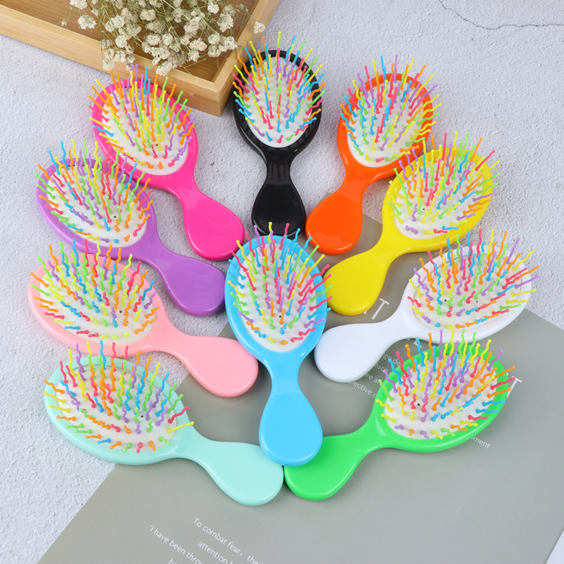 Baby Boys Girls Hair Comb Candy Color Plastic Hair Brush Child Portable Travel Anti-static Comfortable Head Massager Combs