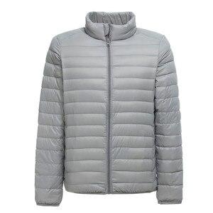 Image 3 - 2019 nuovo Mens Ultralight Giacca Casual Autunno Inverno Bianco Anatra Imbottiture Giacca A Vento Cappotto Caldo Parka Maschile Cappotto di Modo Tuta Sportiva