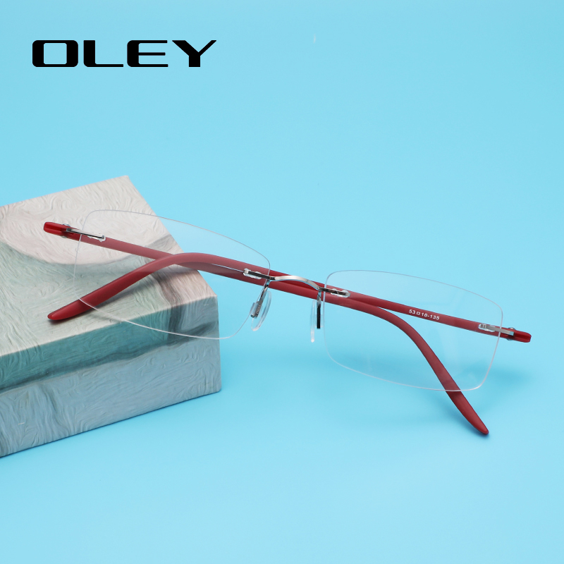 OLEY Classic Super Light Only 12g Optical Glasses Prescription Glasses Titanium Alloy Frame Myopia Hyperopia Glasses Y7015