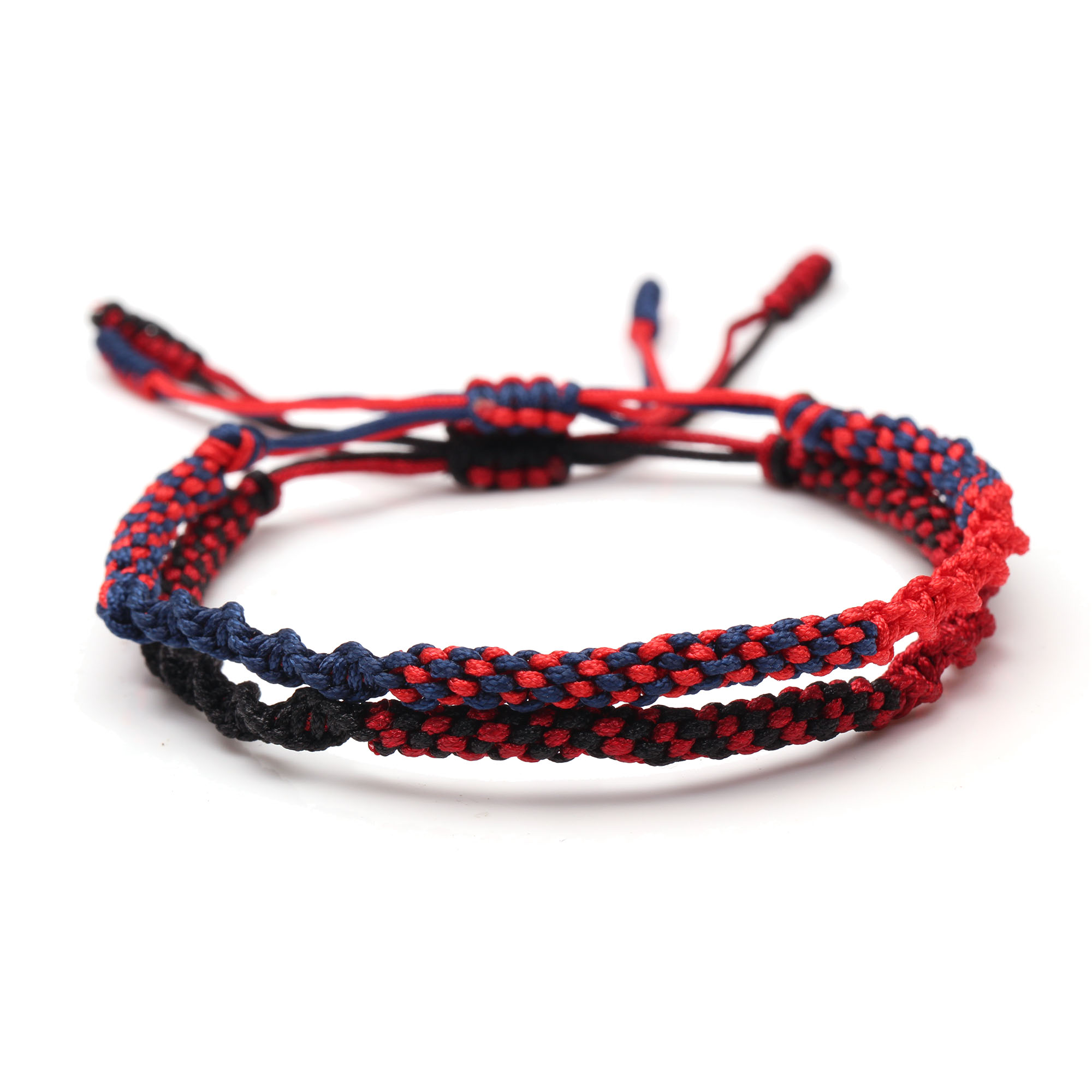 Tibetan Buddhist Lucky Knot Corn Knots Bracelet Women Men 2019 New Fashion Handmade Blue Red Black String Braided Jewelry Gift