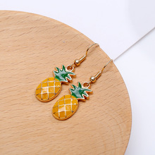 Cute Fruit Pineapple Female Korean Temperament Earrings Small Fresh Long Fashion Jewelry  Women