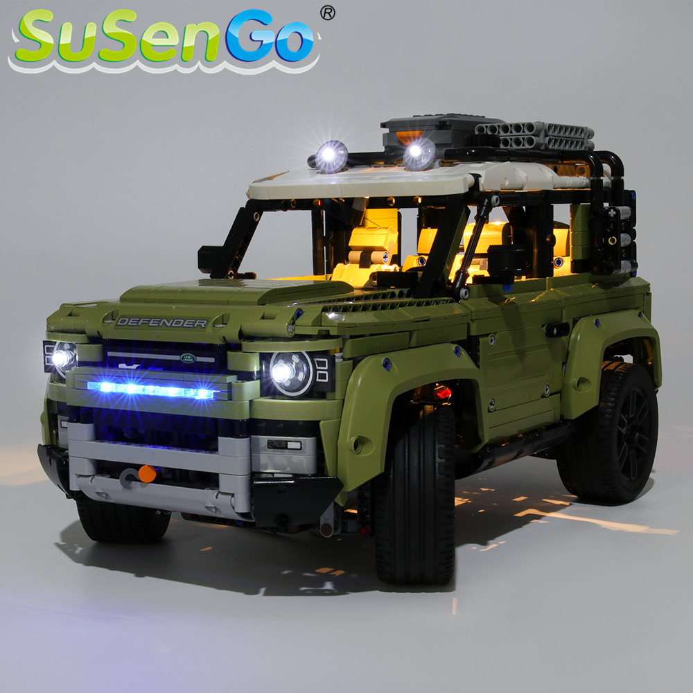 SuSenGo LED Light Kit For Technic Landrover Defender Toy Building Blocks Lighting Set Compatible With 42110 (Model Not Included)