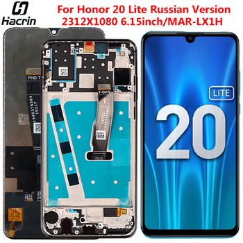 Display For Huawei Honor 20 Lite MAR-LX1H LCD Display Touch Screen Digitizer Assembly For Honor 20 Lite Russian Version Display for huawei honor 8 lite lcd display touch screen digitizer assembly replacement free tools