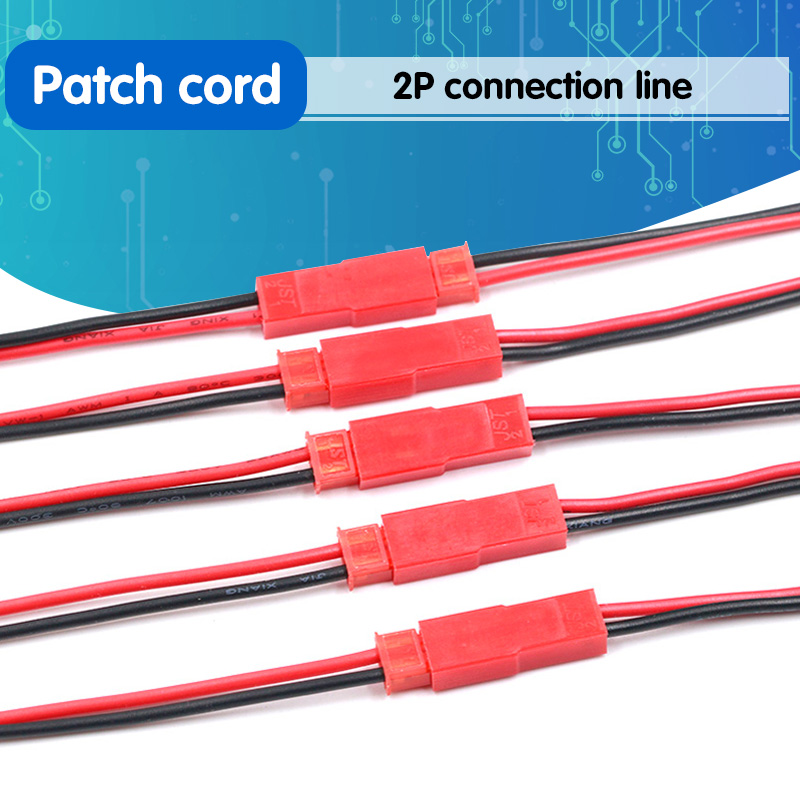 2Pairs New 2 Pin Connector Male Female JST Plug Cable 22 AWG Wire For RC Battery Helicopter DIY LED Lights Decoration