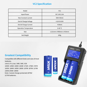 Image 5 - Xtar Lcd Charger Qc 3.0 Snel Opladen Voor VC4S / VC2S Power Bank Lader/VC2 VC4 Usb Charger 20700 21700 18650 Batterij Oplader