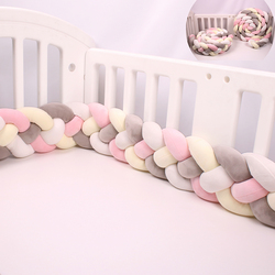 2.2M/3M 4 Knot Cot Bumpers in the Crib Infant For Newborn Baby Bed Bumper protector Room Pillow Decoration Bumpers in the Cribs
