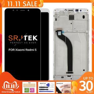 "Image 1 - 원래 5.7 ""Xiaomi Redmi 5 LCD 디스플레이 터치 스크린 Xiaomi Redmi 5 디스플레이 교체 부품에 대 한 프레임 디지타이저 어셈블리"