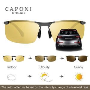 Image 3 - CAPONI Nachtsicht Sonnenbrille Polarisierte Photochrome Sonnenbrille Für Männer Oculos Gelb Driving Gläser gafas de sol BSYS3066