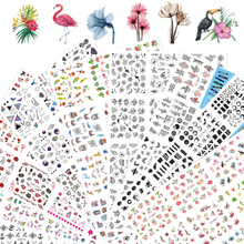 12 Designs Nail Stickers Set Mixed Floral Geometric Sexy Girl Nail Art Water Transfer Decals Tattoos Sliders Manicure