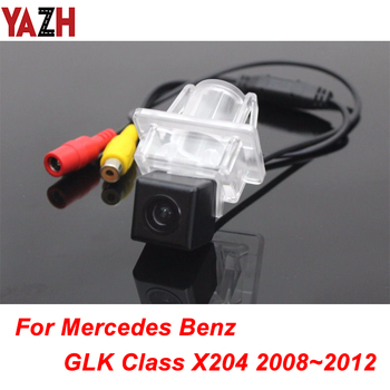 For Mercedes Benz GLK Class X204 2008~2012 GPS Wireless Track Car Rear View Camera Track line Night Vision LED Light Waterproof image