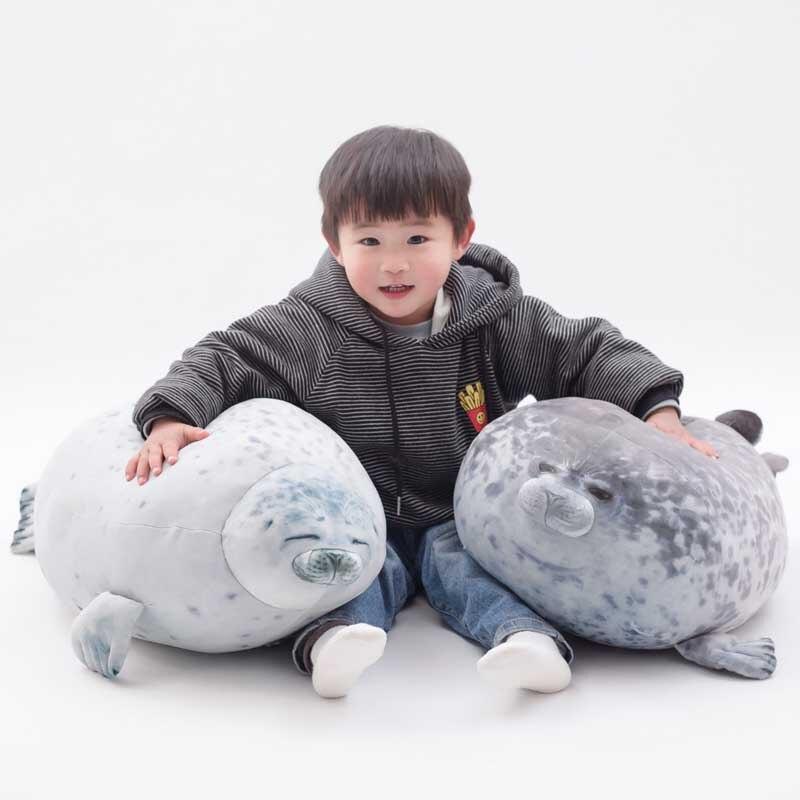 cute seal stuffed plush pillow cushion sea lion plush toys soft kids stuffed doll birthday gift(China)