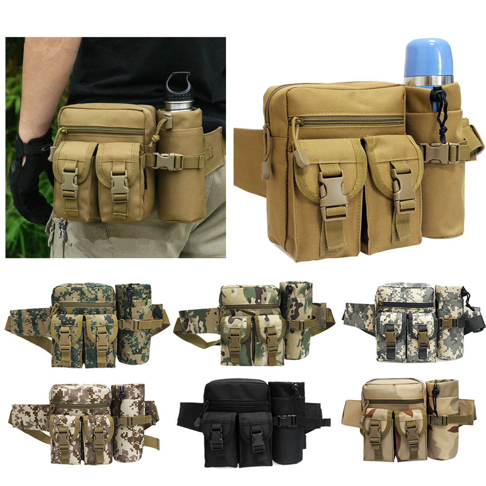 Outdoor Tactical Bag Hip Packs Waist Bag Fanny Pack Hiking Fishing Sports Hunting Waist Bags Travel Camping Sports Bags