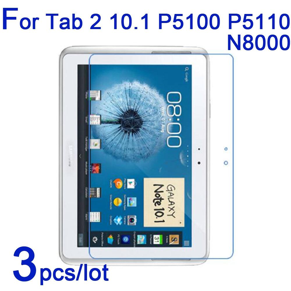 3pcs/lot Screen Protectors for Samsung Galaxy Tab 2 3 10.1 P5100 P5200 P5210 P5110 N8000 Clear/Matte/Nano tablet Protective Film