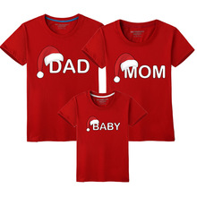 Mommy and Me Clothing for Family Look Matching Outfits Dad Mom Baby Clothes Mother Daughter Father Son Shirt Christmas T-shirt basketball dad mom baby girl boy family matching outfits cotton t shirt father mother son daughter print letter mommy and me kid