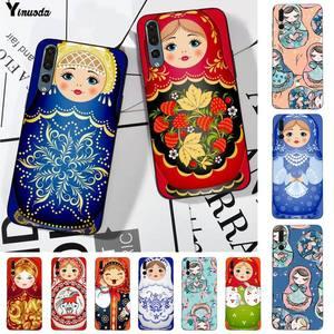 Yinuoda lindo muñecas rusas Matryoshka funda de teléfono suave Capa para huawei P8 P9 p10 p20 P30 P40 pro lite psmart 2019