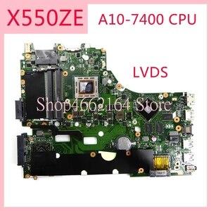 Image 1 - X550ZE האם REV2.0 עבור ASUS X550ZE A10 7400CPU מחשב נייד האם X550 X550Z X550ZA מחברת נבדק באופן מלא