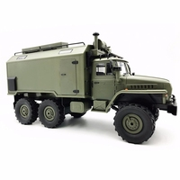 Wpl B36 Ural 1/16 2.4G 6Wd Rc Truck Rock Crawler Command Communication Vehicle Rtr Toy Auto Army Trucks