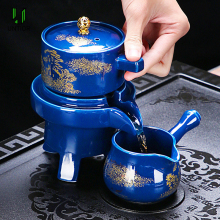 UNTIOR Creativity Ceramic Automatic Tea Set Anti-scald Design Rotate Teapot Flow Out Water High-endTea Set For Wedding Gift