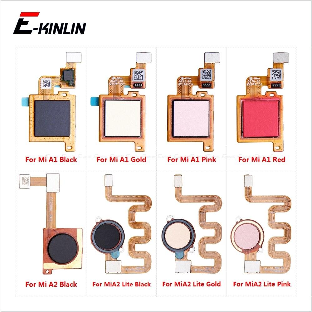 Back Home Return Button Key Fingerprint Connection Sensor Scanner Connector Flex Cable Touch ID Parts For Xiaomi Mi A1 A2 Lite