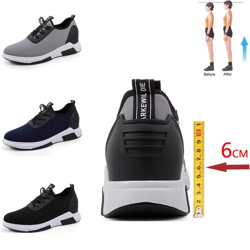 Elevator Shoes Men Sneakers High Heels