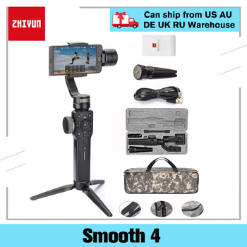 Zhiyun Smooth 4 3-Axis Mobile Handheld Gimbal Stabilizer For Iphone 8 X Samsung S8+ Plus Galaxy S9 Smartphone Cell Phone fy feiyutech vimble 2 feiyu vimble2 handheld 3 axis extendable gimbal stabilizer for iphone 6 7 x vs zhiyun smooth q