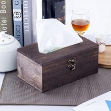 Paper Rack Wood Storage Tissue Box Car Home Rectangle Shaped Tissue Container Napkin Tissue Dispenser Organizer Holder #BL4