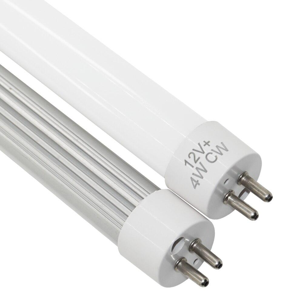 Светодиодная трубка t5 g5, 2 шт., светодиодный светильник t5, 12 В, 1 фута, 4 Вт, 300 мм, 330 мм, сменный Флуоресцентный светильник 0,3 м для гостиной
