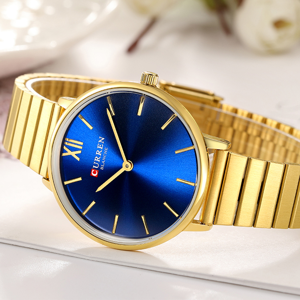 CURREN Women Watch Fashion Luxury Design Lady Simple Girl Wristwatch Quartz Watches Women's Dress Bracelet Clock Bayan Kol Saati