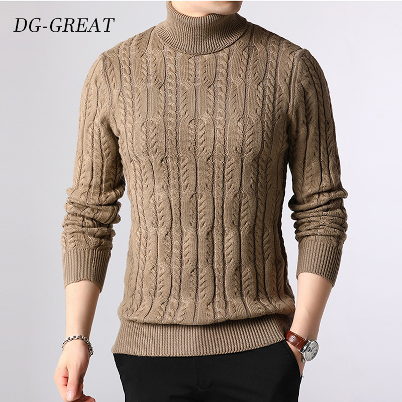 New Arrival Fashion Sweaters Man Pullovers Slim Knitwear Thicked Autumn Winter Sweater Turtleneck Casual Sweater Mens Clothes