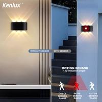 Outdoor Indoor Sensor Wand Lampe Nordic Led Aluminium Up Down Wand Leuchtet Moderne Für Home Treppen Schlafzimmer Wohnzimmer Neben Beleuchtung