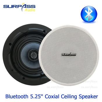 Waterproof Speaker 5.25inch Active Coxial Ceiling Speaker Smart Bluetooth Link On Wall Installation Wired In Ceiling Speaker