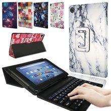 Caso para amazon fire hd 10 2015 2017 2019 10 Polegada tablet pc tablet de proteção inteligente capa de couro suporte + teclado bluetooth