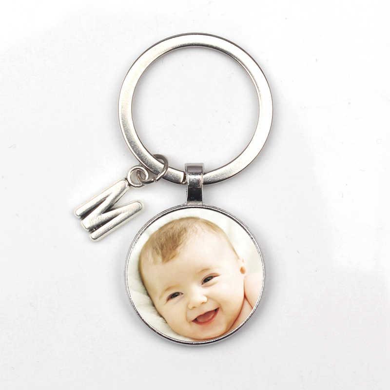 Pingente personalizado Foto Foto Do Bebê Criança Dad Avós Retrato de Família Mãe Irmão Coração em forma de Chaveiro Personalizado Privado