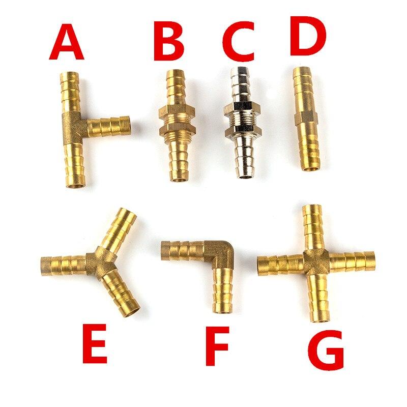 Raccord de tuyau ardillon en laiton 2 3 4 voies connecteur pour 4mm 5mm 6mm 8mm 10mm 12mm 16mm 19mm tuyau en cuivre pagode raccords de Tube deau