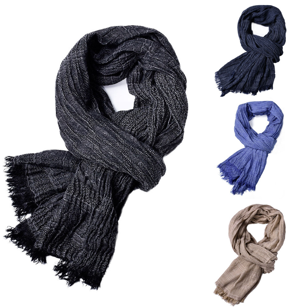 Warm Scarf Shawl Poncho Fringe Tassel Winter Solid-Color New-Fashion Autumn Long Soft title=