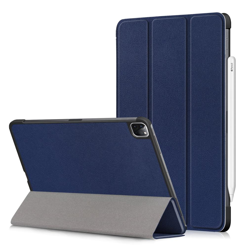 Blue Blue PU Leather Foldable Stand Case for iPad Pro 11 2020 Case Cover for Apple iPad Pro