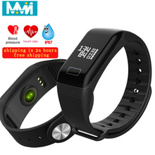 F1 Smart Bracelet Color Screen Blood Pressure Waterproof Fitness Tracker Heart Rate Monitor Smart Band for Android IOS B