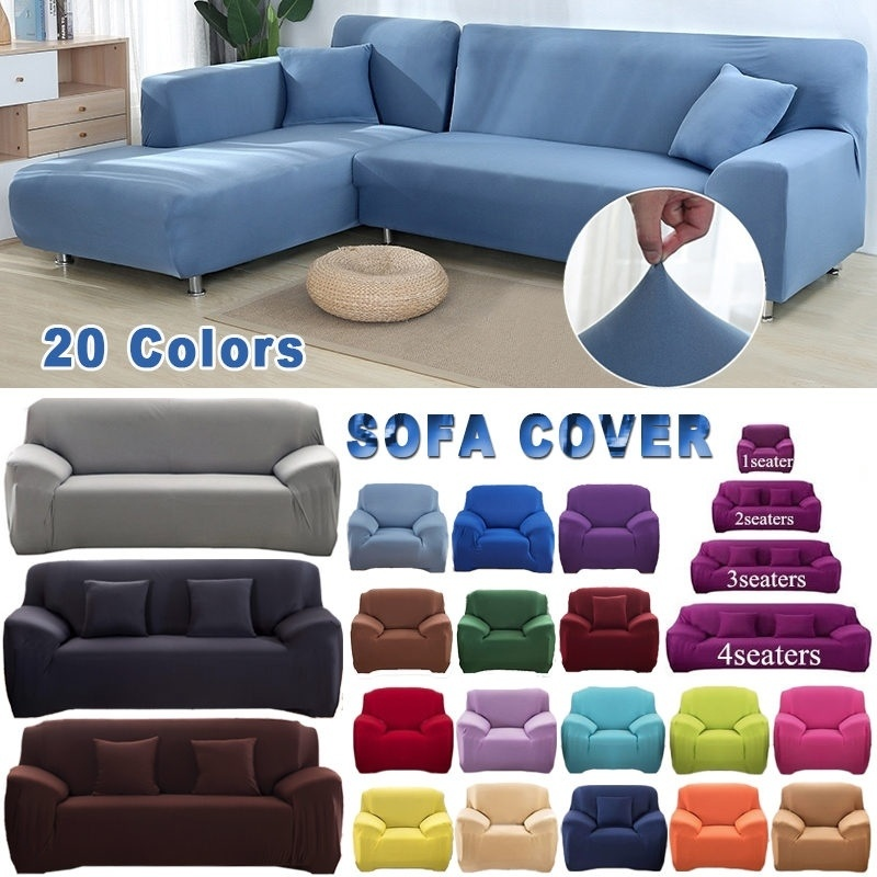 1/2/3/4 Seater Universal <font><b>Sofa</b></font> Slipcover dustproof Couch Cushion Furniture Covers Elastic Case Corner <font><b>Sofa</b></font> Cover for Living Room image