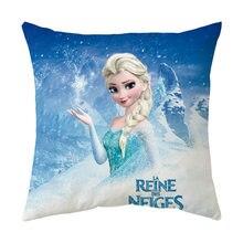 Disney congelado anna figuras fronha dos desenhos animados anime impressão capa de almofada pelúcia macio fronha decoração para casa presente natal