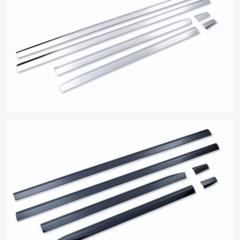 éDealTrim Touareg Volkswagen Modification for Door-Edge-Strip Stainless-Steel Exterior Special