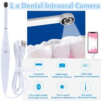 USB Oral Inspection Intraoral Camera Waterproof LED Light 720P HD Endoscope Teeth whitening kit For Dentist Video Dental Tools