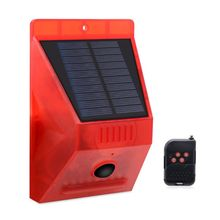 Solar Strobe Alarm Motion Detector with Remote Control Siren Multipurpose for Home Farm Chair Villa Security Device