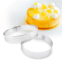 6 8 10 CM Stainless Steel Tart Mold Ring Tartlet Cake Mousse Molds Cookies Pastry Circle Cutter Pie Ring Perforated