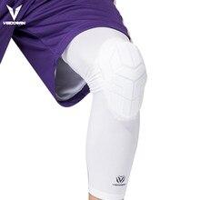 Veidoorn 1 pçs compressão basquete joelho esporte manga suporte pressurizado ela elástico joelheira favo de mel para esportes vôlei