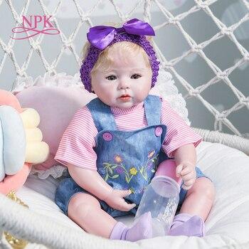 NPK-muñeco de bebé recién nacido de 50CM, muñeco 100%, hecho a mano, suave, pesado, coleccionable, de alta calidad