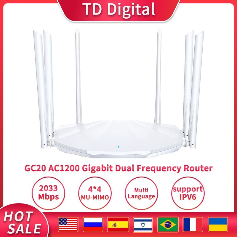 GC20 AC2100 WI-FI роутер двухдиапазонный Wi-D Беспроводной WI-FI маршрутизатор с 6 * 6BI с высоким коэффициентом усиления антенны покрытия для дома WI-FI ре...