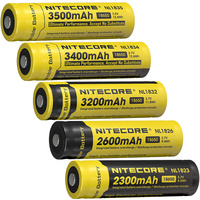 Wholesale NITECORE 18650 3.7V Li ion Protected Rechargeable Battery NL1823 NL1826 NL1832 NL1834 NL1835 Button Top for Flashlight|Portable Lighting Accessories| |  -