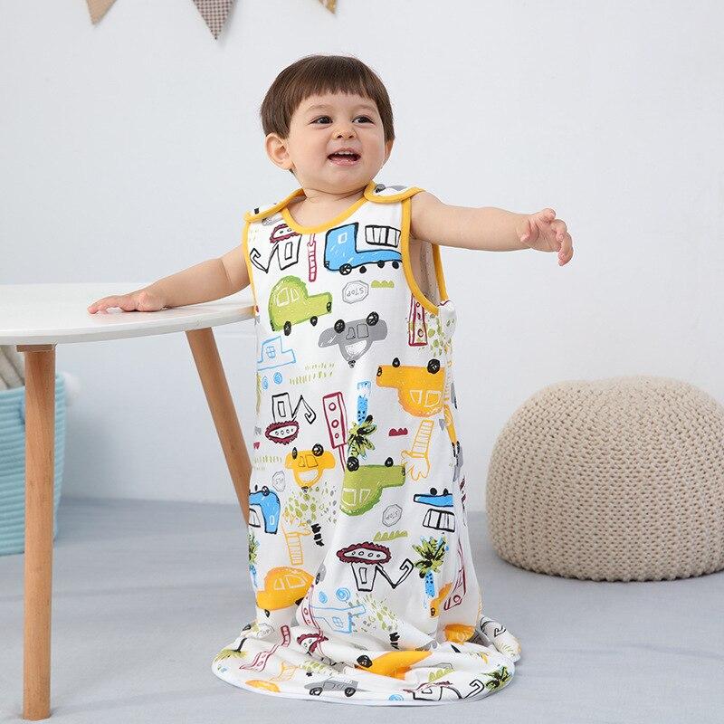 2021 New Newborn Short Sleeve Cotton Sleeping Bag Zipper Sleepsack Wrap Blanket Bedding