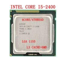 Intel core i5-2400 cpu quad-core 3.1ghz 6m 95w lga1155 processador suporte intel h61/b75 mainboard