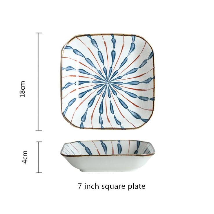 7inch square plate